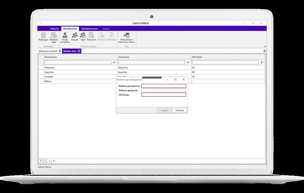 Logistikos procesų ir sandėlio valdymo sistema